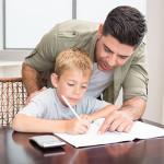 padre compiti figlio